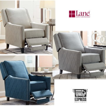 Relax With This Rocker Recliner Featuring Nearly Unlimited Reclining In A Choice Of 3 Fabric Colors