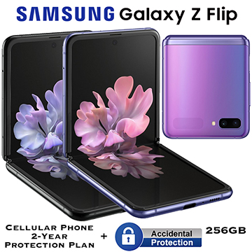 Samsung 256GB Galaxy Z Flip *UNLOCKED* With Cellular Phone 2Yr Protection Plan + Accidental Damage