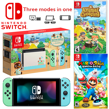 Nintendo Switch Animal Crossing: New Horizons Edition and 2 Games