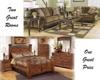 Two Great Rooms; One Great Price Featuring 8-Piece Living Room Plus 8-Piece Bedroom Package