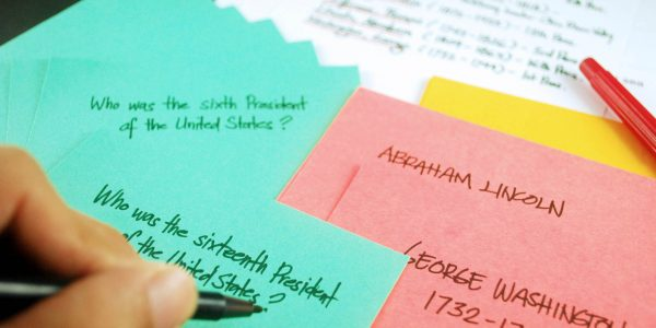 Study Tip Using Flash Cards