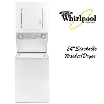 Whirlpool 24 Stackable Top Loading Washer Front Electric Dryer